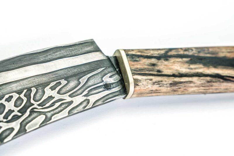 Wiegemesser handgeschmiedet handgefertigt damast made in germany kochmesser Moorschmied