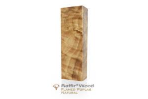 Stabilisiertes Holz: PAPPEL GERIEGELT Raffir