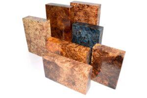 Stabilisiertes Holz: PAPPEL MASER Raffir